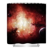 The Birth Of Numerous Stars Exposing Shower Curtain