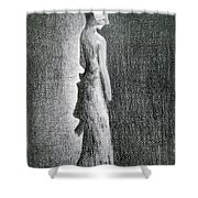 The Black Bow Shower Curtain