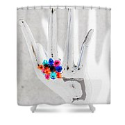 The Black Hand In Negative Shower Curtain