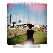 The Black Hat Shower Curtain