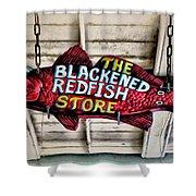 The Blackened Redfish Store Shower Curtain