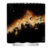 The Blast Wave Of A Nova Pulls Away Shower Curtain