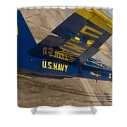 The Blue Angels Perform Over El Centro Shower Curtain