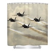 The Blue Angels Perform Their Delta Shower Curtain