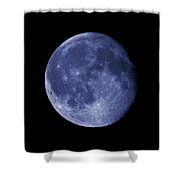 The Blue Moon Shower Curtain