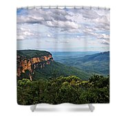 The Blue Mountains - Panoramic View Shower Curtain