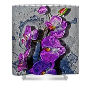 The Blue Orchid  Shower Curtain