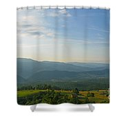 The Blue Ridge Mountains In July 01 Shower Curtain