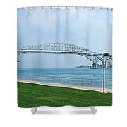 The Blue Water Bridge  Shower Curtain