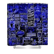 The Blues In Memphis Shower Curtain by Carol Groenen