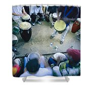 The Blur Of A Frenzied Beat In A Circle Shower Curtain