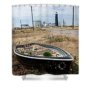 The Boat Garden Shower Curtain