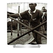 The Boatman Of The Lake Taungthaman - 2 Shower Curtain