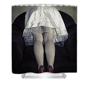 The Bride From Behind Shower Curtain by Joana Kruse