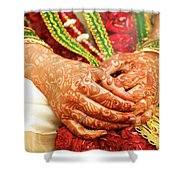 The Bride's Hands Shower Curtain