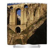 The Bridge At Ronda Spain Connects Shower Curtain