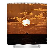 the Bronzy Sunset. Shower Curtain