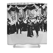 The Cakewalk Shower Curtain by Photo Researchers