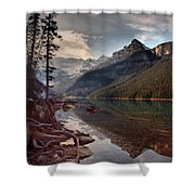 The Calm At Lake Louise Shower Curtain