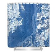 The Calving Front Of The Jakobshavn Shower Curtain