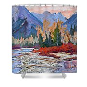 The Canadian Rockies Shower Curtain