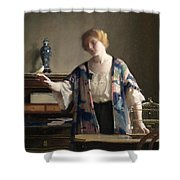 The Canary Shower Curtain by William McGregor Paxton