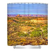 The Canyon In The Distance Shower Curtain