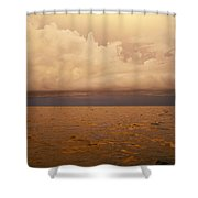 The Caribbean Sea Reflects The Sunset Shower Curtain