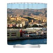 The Castle In Almeria Spain Shower Curtain