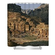 The Caves And Tombs Of Petra, Shown Shower Curtain