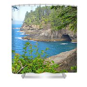 The Caves Of Cape Flattery  Shower Curtain