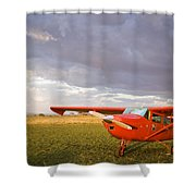 The Cessna Makes A Pit Stop To Refuel Shower Curtain