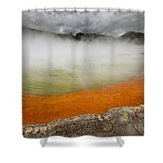 The Champagne Pool In Wai O Tapu Shower Curtain