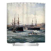 The Channel Fleet Off Scarborough Shower Curtain