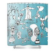 The Characters Shower Curtain