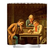 The Checker Players Shower Curtain