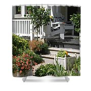 The Cheerful Porch Shower Curtain