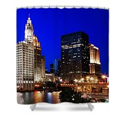 The Chicago River Shower Curtain