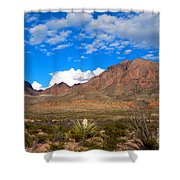 The Chisos Mountains Big Bend Texas Shower Curtain