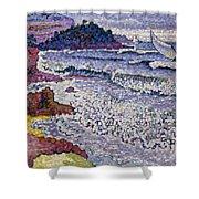 The Choppy Sea Shower Curtain by Henri-Edmond Cross