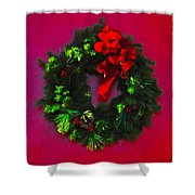The Christmas Wreath Shower Curtain