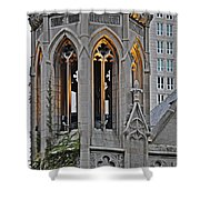 The Church Tower Shower Curtain