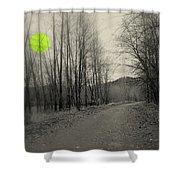 The Circle Green - Bare Walkin Trail Shower Curtain