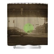 The Circle Green - Urban Perspective Shower Curtain