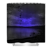 The Circle Violet Lake  Shower Curtain