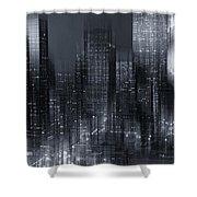 The City Comes Alive At Night Shower Curtain