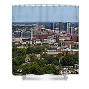 The City Of Birmingham Alabama Usa Vertical Shower Curtain
