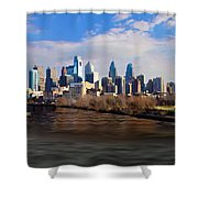 The City Of Brotherly Love Shower Curtain