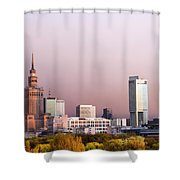 The City Of Warsaw Shower Curtain