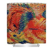 The City Rises Shower Curtain